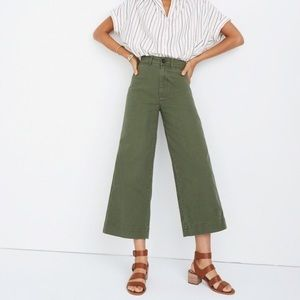 Madewell wide leg cropped pants